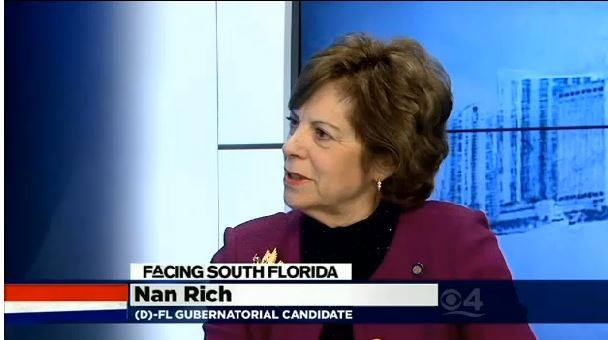 Miles Behind Her, Miles Ahead.  Nan Rich Vows to Stay in Race